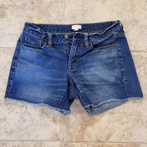 J. CREW Good Condition Blue Jean Short Shorts